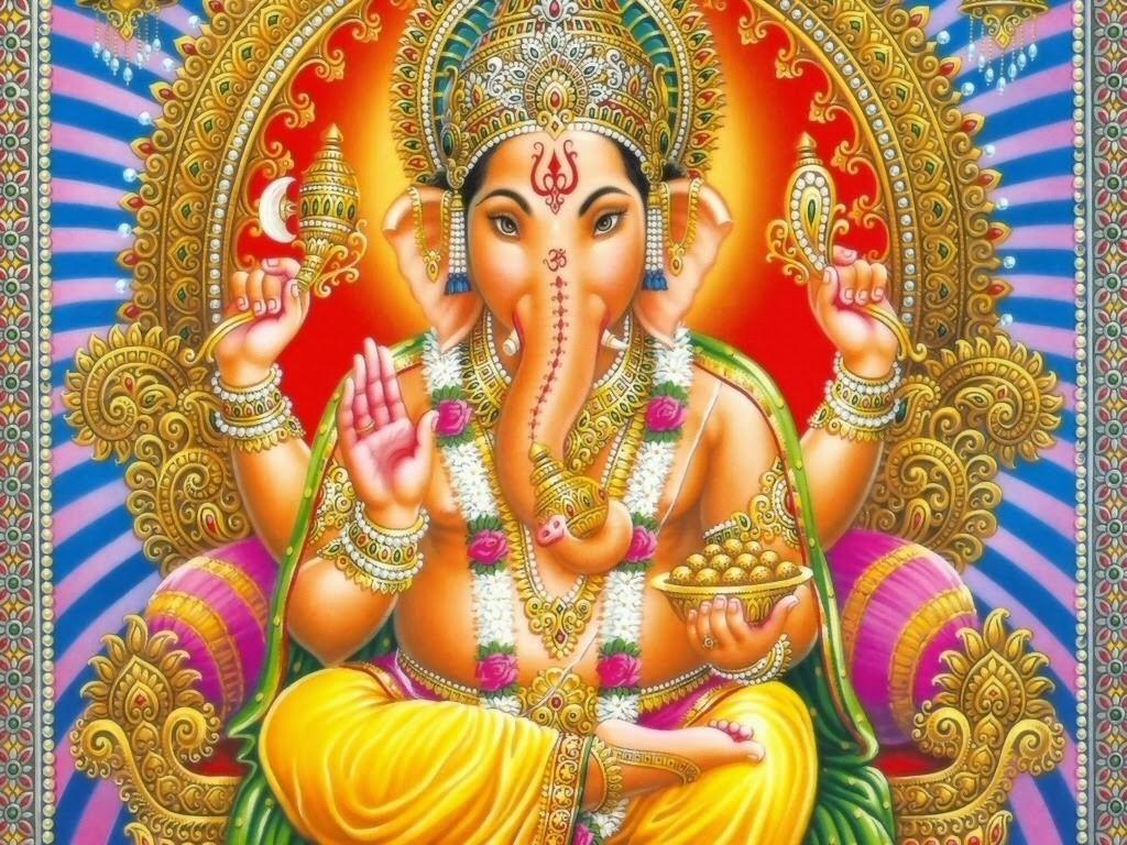 La divinità induista Ganesha, il Distruttore degli ostacoli.