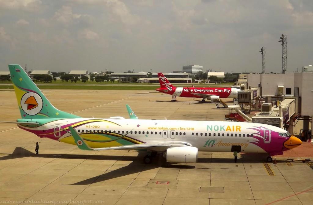 Nok Air: una delle tante compagnie aeree low cost thailandesi.